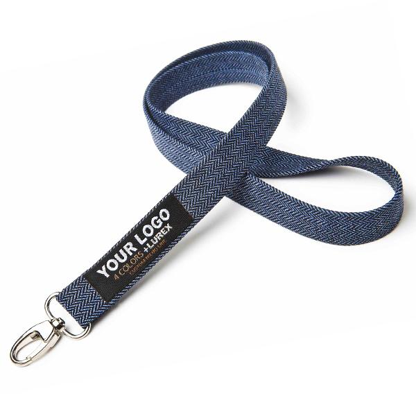 Blaues Polyester Lanyard / Schlüsselband (bedruckbar)