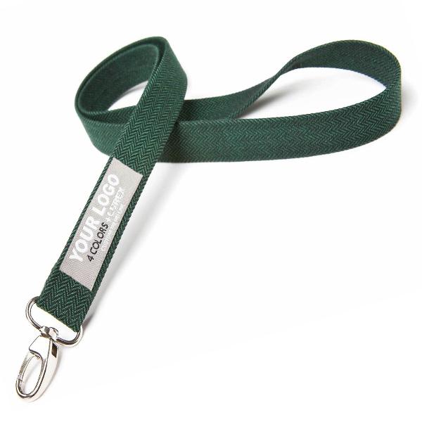 Grünes Polyester Schlüsselband als Werbegeschenk
