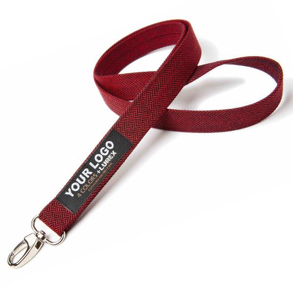 Rotes Polyester Lanyard / Schlüsselband (bedruckbar)