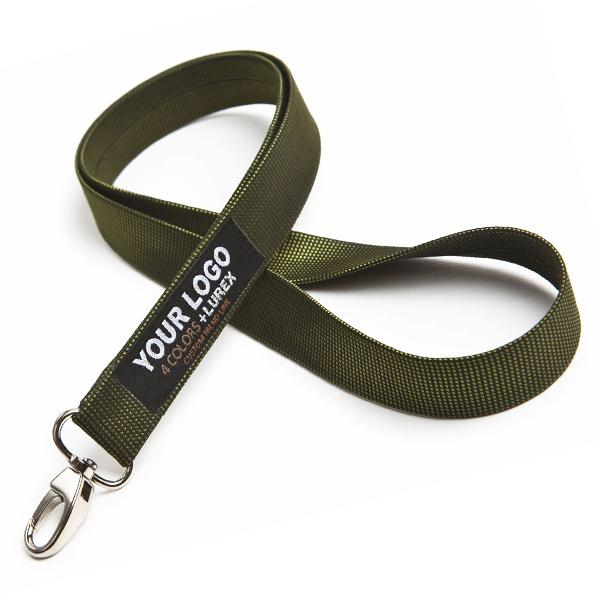 Grünes Polyester Lanyard / Schlüsselband (bedruckbar)