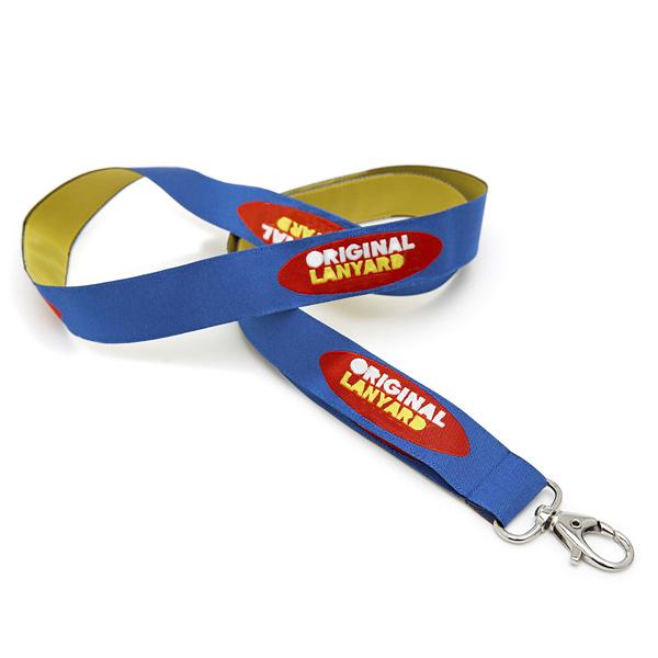 Doppelt gewebtes Lanyard-Schlüsselschnur (mit Logodruck)