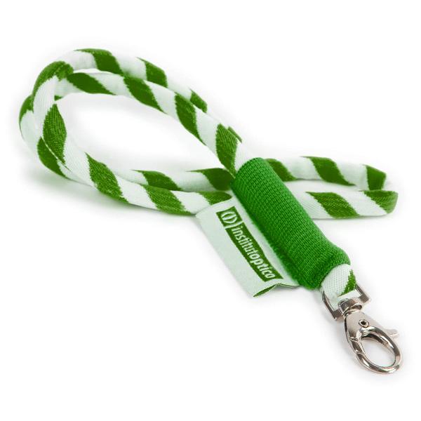 Yachting Lanyard / Schlüsselband grün (bedruckbar)
