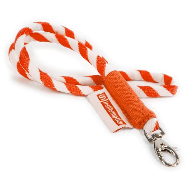 Yachting Lanyard / Schlüsselband orange (bedruckbar)