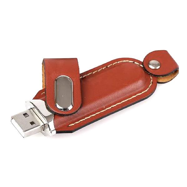 Leder USB-Stick mit Verschluss (bedruckbar)