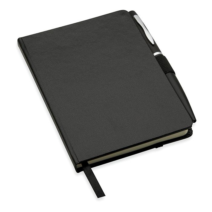 DIN A5 Notizbuch mit Kugelschreiber als Werbegeschenk bedruckbar
