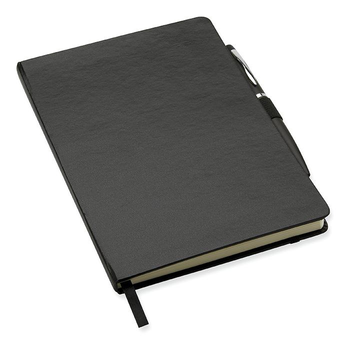 DIN A6 Notizbuch mit Kugelschreiber als Werbepräsent bedrucken