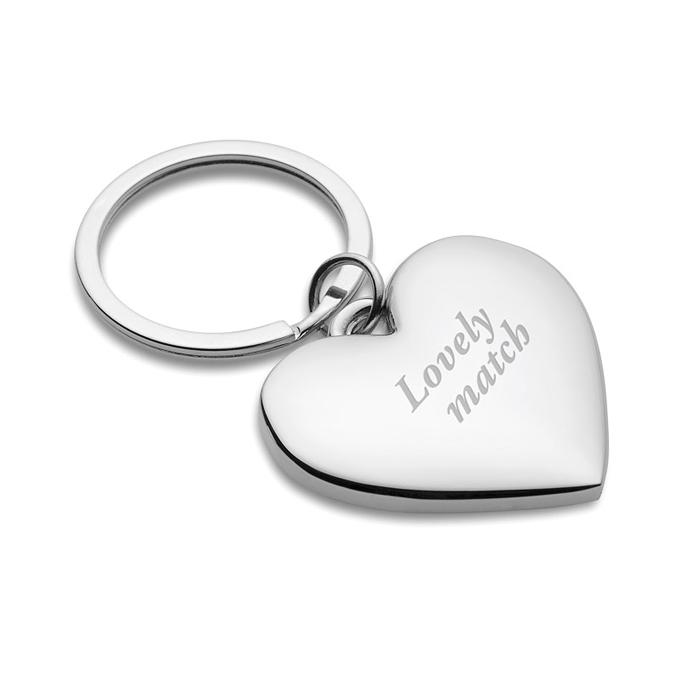 Schlüsselanhänger in Herzform (bedruckbar als Werbeprodukt)