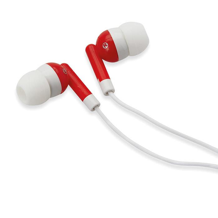 Kopfhörer in Silikon-Verpackung (als Werbeartikel bedruckbar)