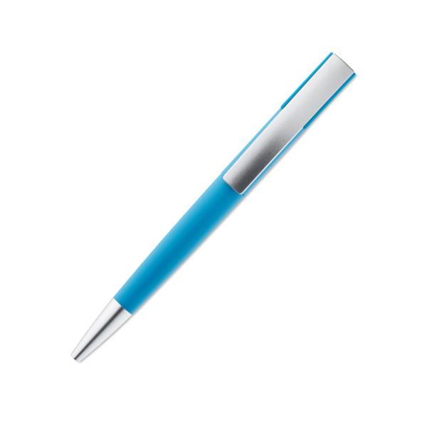 Eleganter Drehkugelschreiber mattiert als Werbeartikel bedruckbar