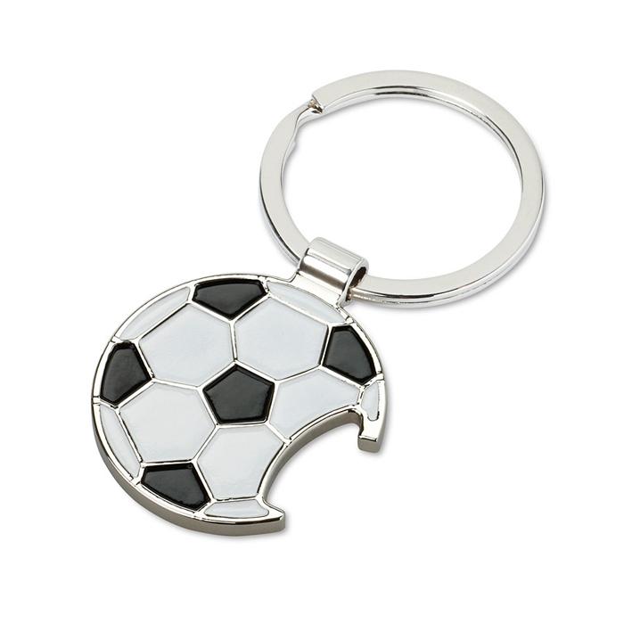 Schlüsselanhänger Fußball (Werbeartikel zum Bedrucken mit einem Logo)