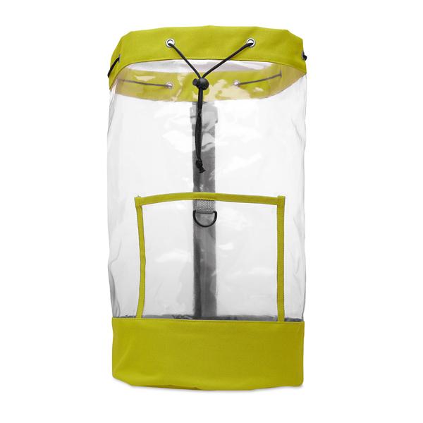 Transparenter Rucksack als Werbeartikel zum Bedrucken
