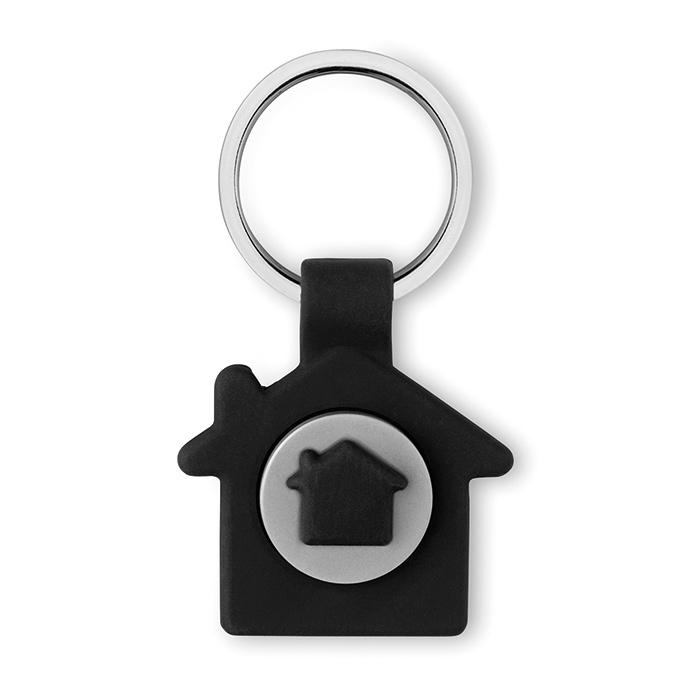 Schlüsselring in Haus-Form als Werbemittel (mit Logo bedruckbar)