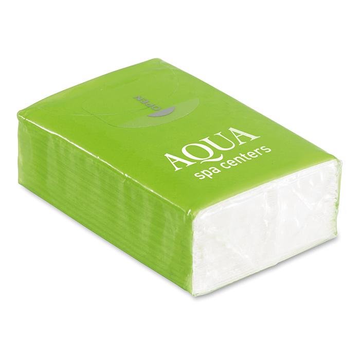 Papiertaschentücher als Werbeträger zum individuellen Bedrucken mit einem Logo