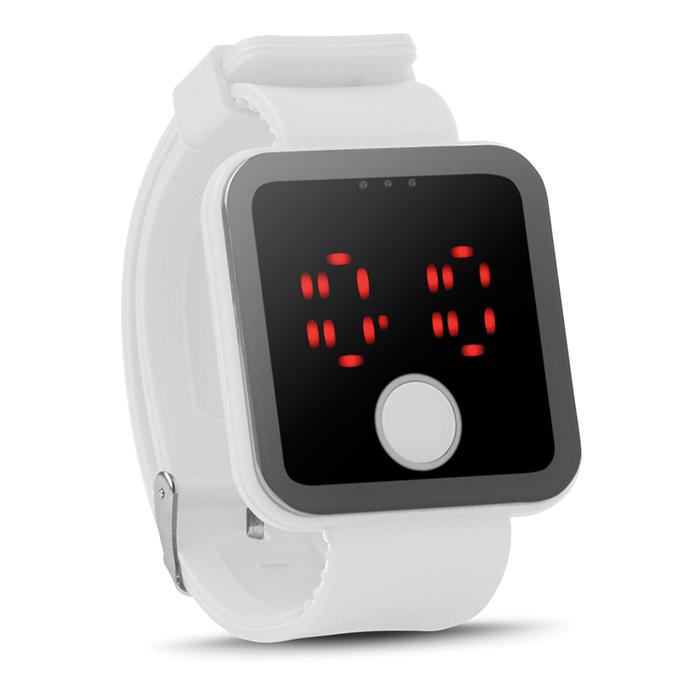 Weisse Bluetooth Smartwatch bedruckbar mit Logo