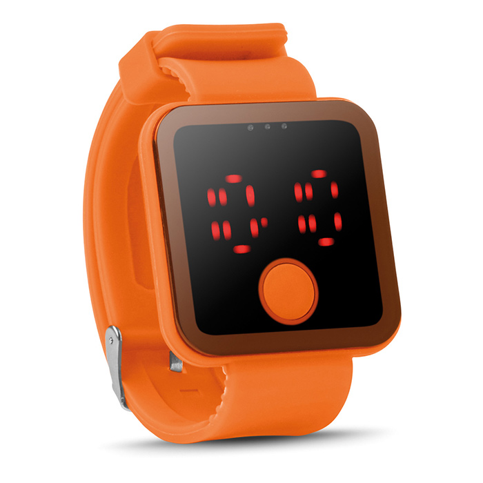 Orange Bluetooth Smartwatch (bedruckbar als Werbeartikel)