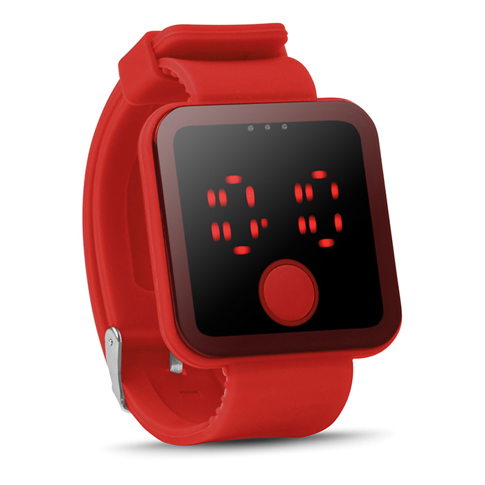 Rote Bluetooth Smartwatch (bedruckbar als Werbeartikel)