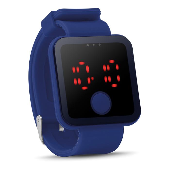 Blaue Bluetooth Smartwatch bedrucken als Werbepräsent