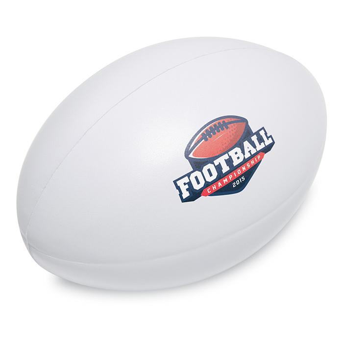 Anti-Stress-Rugbyball als Werbemittel individuell bedruckbar