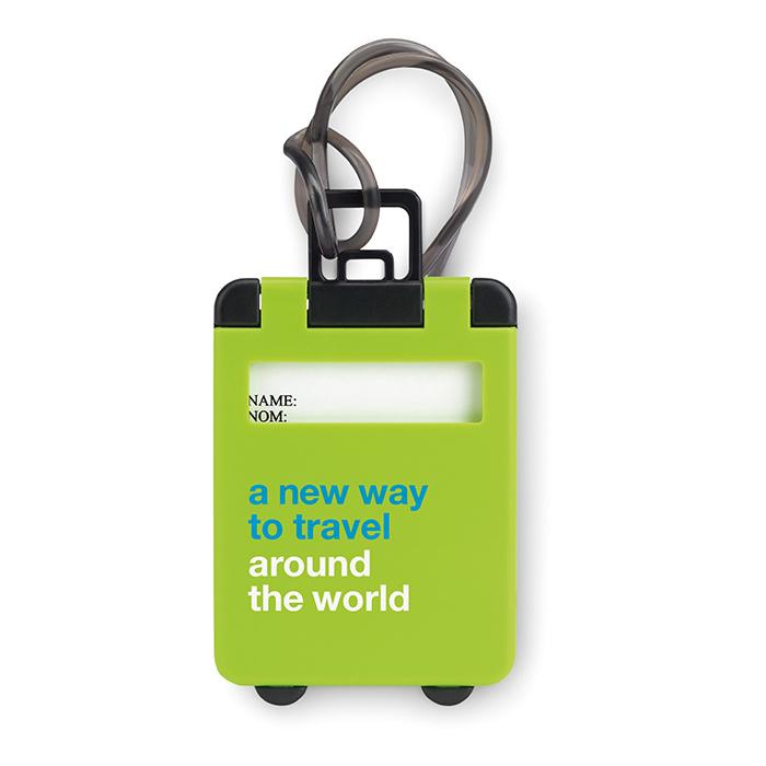 Kofferanhänger als Werbeartikel zum individuellen Bedrucken mit Logo