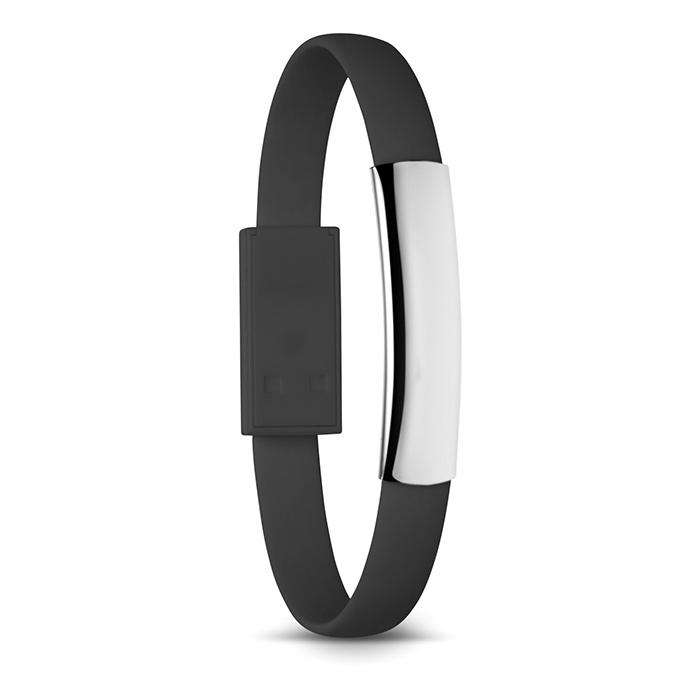 Armband mit USB-Kabel (günstig bedruckbar als Werbeprodukt)