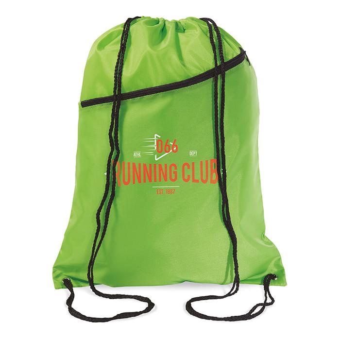 Rucksack-Beutel mit Kordelzug als Werbeprodukt zum individuellen Bedrucken mit einem Logo