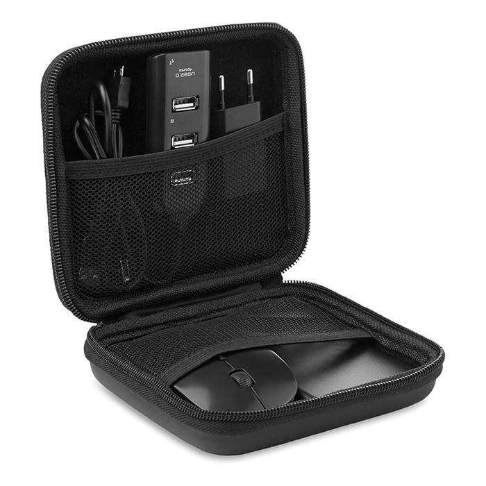 Computerset mit Mouse Hub Stecker Powerbank bedruckbar als Werbeartikel