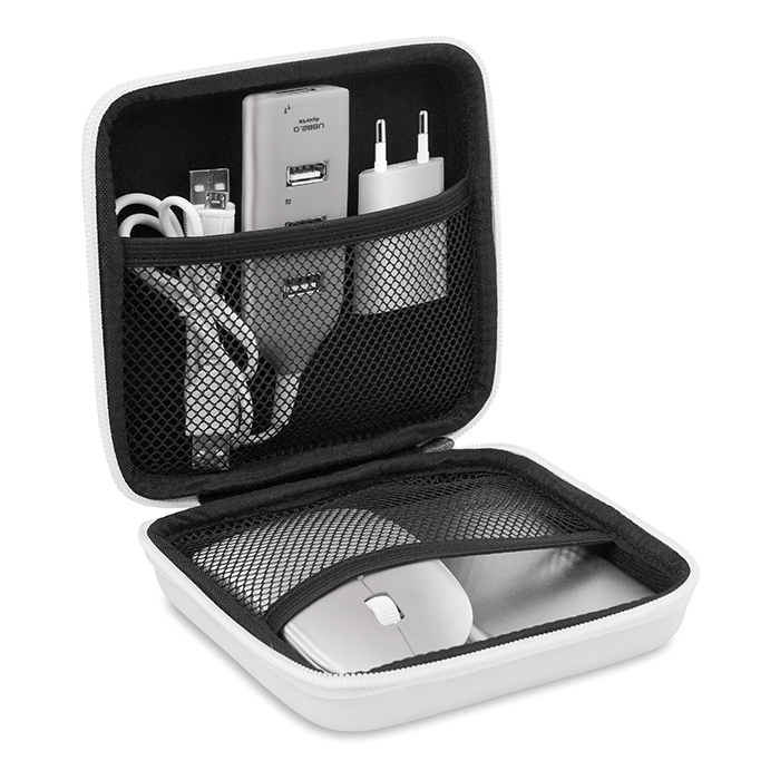 Powerset mit Mouse Hub Stecker Powerbank bedruckbar als Werbepräsent