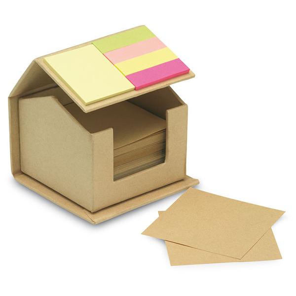 Umweltfreundliche Notizzettel-Box (bedruckbar)