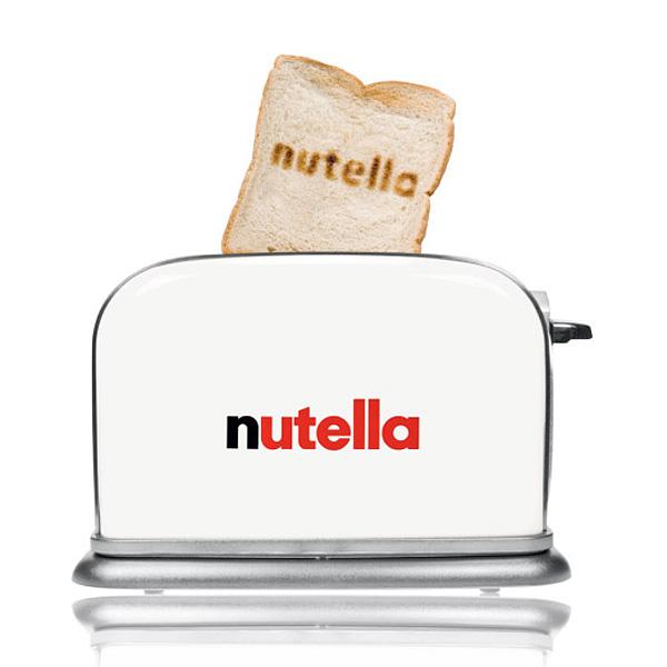 Toaster aus Metall mit Logodruck