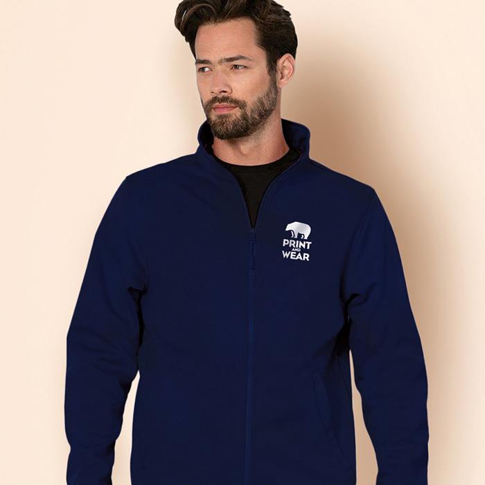 Soft Shell Jacke als Werbeartikel zum individuellen Bedrucken mit einem Logo