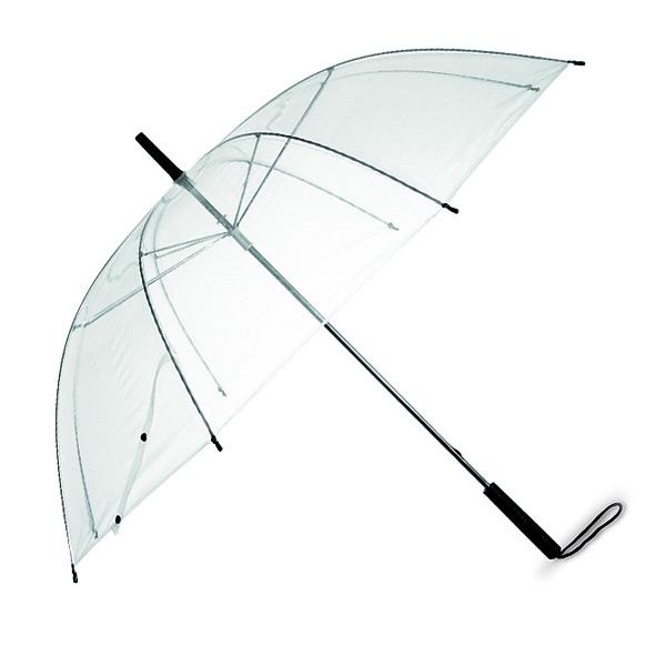 Regenschirm transparent als Werbegeschenk zum Bedrucken