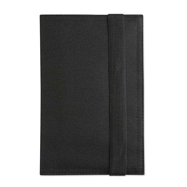 Ausweistasche in schwarz als Werbegeschenk zum Bedrucken