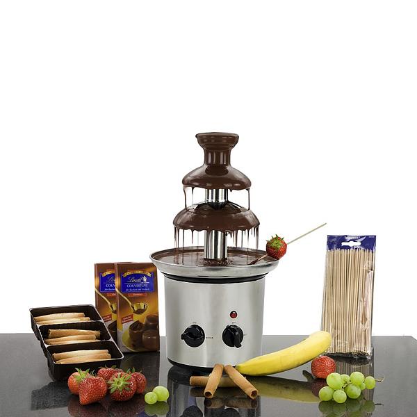 Schokoladenbrunnen mit Zubehör als Werbepräsente
