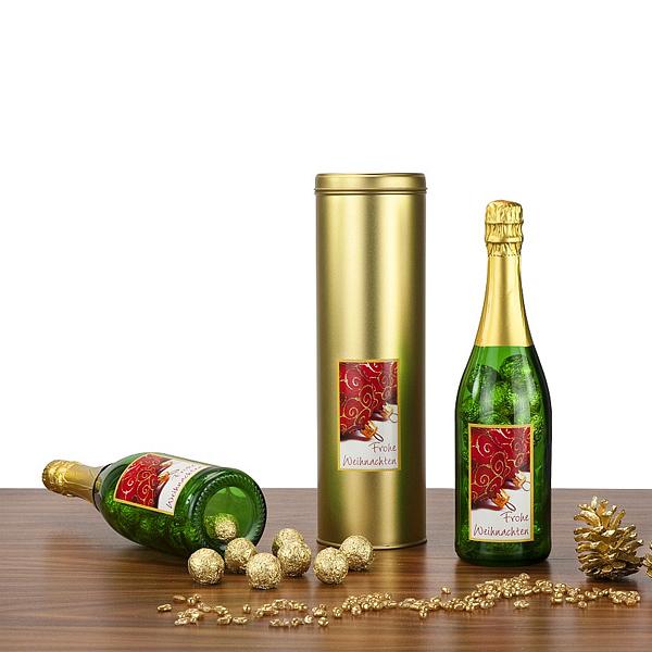 Champagne Trüffel Pralinen als Werbepräsent