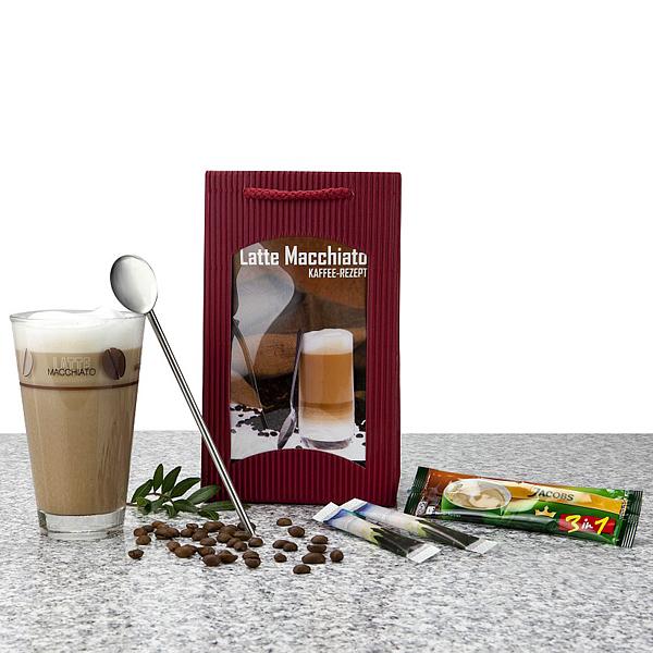 Latte Macchiato Glas im Set als Werbepräsent