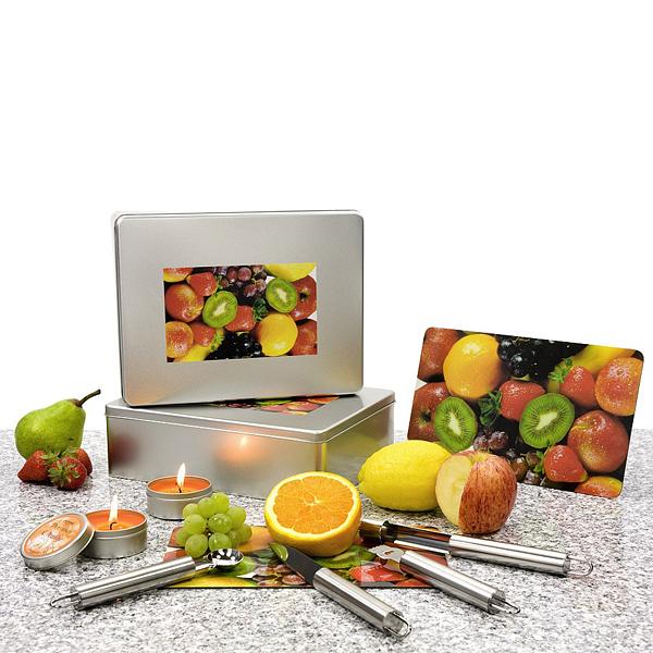 Fruchtausstecher mit Orangenduft als Werbegeschenk