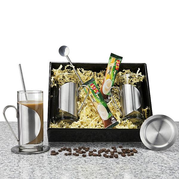 Kaffee Gläser Set als Werbepräsent