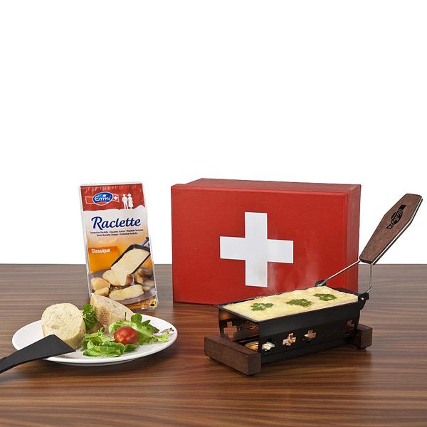 Raclette Set für 2 Bedrucken als Werbegeschenk