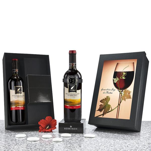 Montepulciano mit Weinthermometer als Werbepräsent