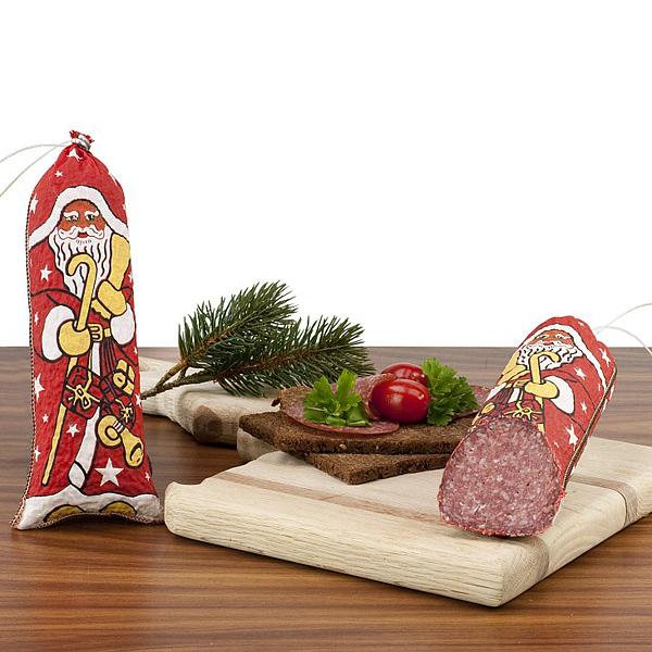 Salami als Werbepräsent zu Weihnachten
