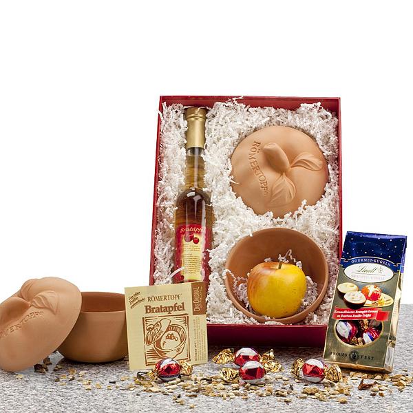 Bratapfel Likör Geschenk Set als Werbepräsente Weihnachten