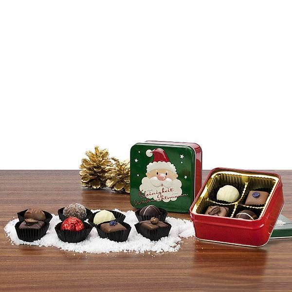 Pralinen und Trüffel in Geschenkverpackung als Werbepräsent