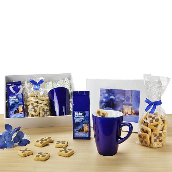 Winter Früchte Tee mit Teetasse als Werbepräsent
