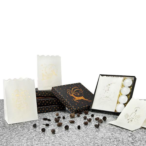 Papier Laternen mit Teelicht als Werbegeschenk