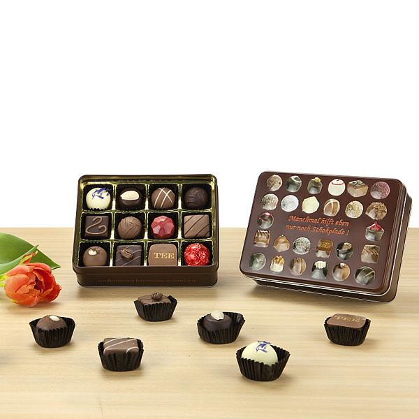 Schokoladen Pralinen als Werbepräsente für Weihnachten