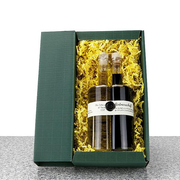 Essig und Öl Set in Geschenkverpackung als Werbepräsent