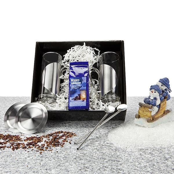 Winter Früchte Tee mit Teegläser im Set als Werbepräsent