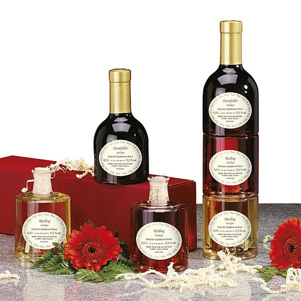 Rotwein Rose Weißwein Set als Kundenpräsent