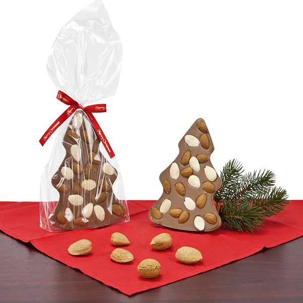 Mandelbaum aus Schokoladen als Werbepräsente Weihnachten