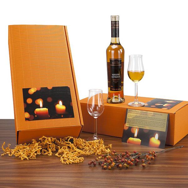 Dessert Wein Geschenkset als Werbepräsent